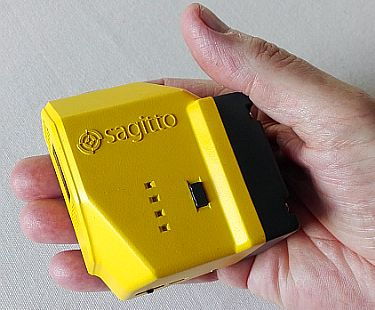 Sagitto's spectrometer fits in the palm of your hand yet has all the power of much larger instruments.